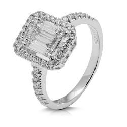 anillo diseño de oro blanco 18 Kt con diamantes (AN148594)