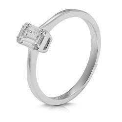 anillo diseño de oro blanco 18 Kt con diamantes (AN148603)