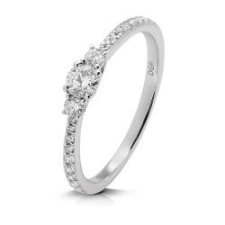 anillo diseño de oro blanco 18 Kt con diamantes (AN148816)