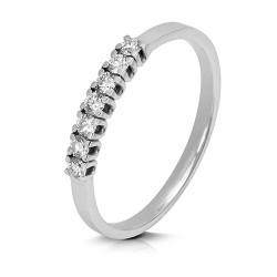 Media alianza grapas de oro blanco 18 Kt con diamantes (AN1700256)