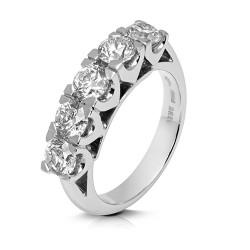 Media alianza grapas de oro 18 Kt con diamantes (AN1700306)