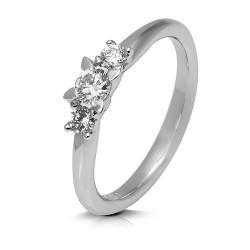Anillo diseño de oro blanco 18 Kt con diamantes (AN1700315)
