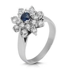 Rosetón de oro blanco 18 Kt con diamantes (AN33000107)