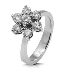Rosetón de oro blanco 18Kt con diamantes (AN3300041)