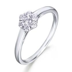 Rosetón de oro blanco 18Kt con diamantes (AN3300123)
