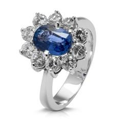 Rosetón de oro blanco 18Kt con diamantes (AN3300160)