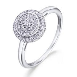 Anillo diseño de oro blanco 18Kt con diamantes (AN3402013)
