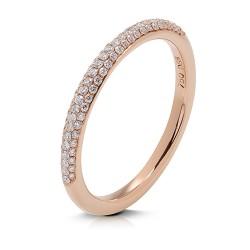anillo diseño de oro rosa 18 Kt con diamantes (AN500183)