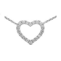 Colgante diseño oro blanco de 18 Kt con diamantes (CO101807)