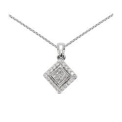 Colgante diseño de oro blanco 18Kt con diamantes (CO11473)