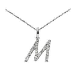 Colgante diseño de oro blanco 18 Kt con diamantes (CO11571)