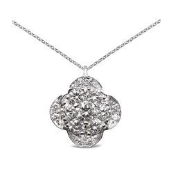 Colgante diseño de oro blanco 18Kt con diamantes (CO12001)
