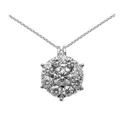 Colgante diseño de oro blanco 18Kt con diamantes (CO12004)
