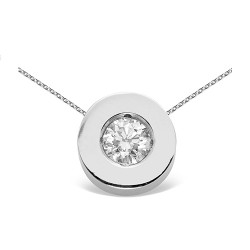Colgante boca oro blanco de 18 Kt con diamante (CO12112)