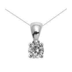 Colgante grapas de oro blanco 18Kt con diamante (CO12332)