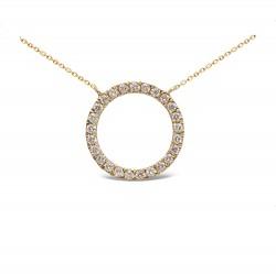 Colgante diseño de oro amarillo 18 Kt con diamantes (CO200325)
