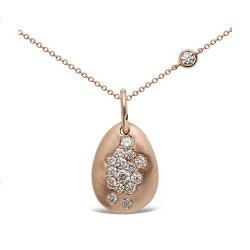 Colgante diseño de oro rosa 18 Kt con diamantes (CO20230)
