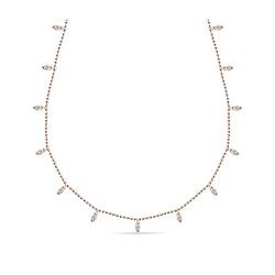 Collar de oro rosa 18 Kt con diamantes (CO20241)