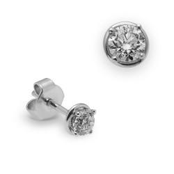Dormilonas de oro blanco 18Kt con diamantes (PE122886)