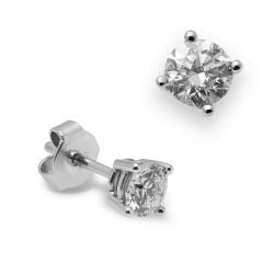 Dormilonas de oro blanco 18Kt con diamantes (PE123174)