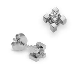 Dormilonas de oro blanco 18Kt con diamantes (PE123189)