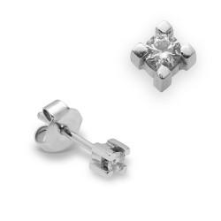 Dormilonas de oro blanco 18Kt con diamantes (PE123215)