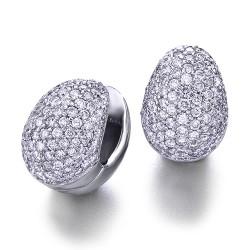 Pendientes diseño de oro blanco 18Kt con diamantes (PE1400020)