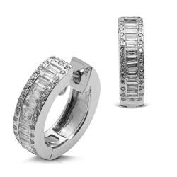 Criollas de oro blanco 18 Kt con diamantes (PE1400605)