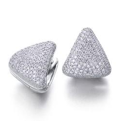 Pendientes diseño de oro blanco 18Kt con diamantes (PE1400780)