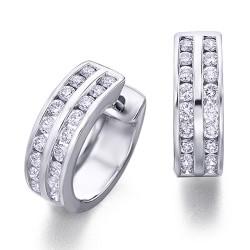Criollas de oro blanco 18Kt con diamantes (PE142605)