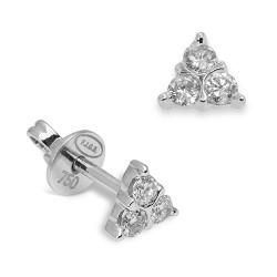 Pendientes diseño de oro blanco 18 Kt con diamantes (PE147150)
