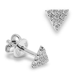Pendientes diseño de oro blanco 18 Kt con diamantes (PE147155)