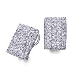 Pendientes diseño de oro blanco 18Kt con diamantes (PE147198)