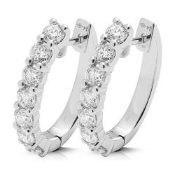 criollas de oro blanco 18Kt con diamantes (PE148086)