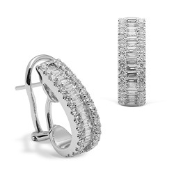 criollas de oro blanco 18 Kt con diamantes (PE148101)