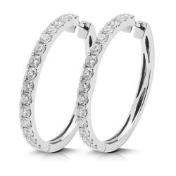 Criollas de oro blanco 18kt con diamantes (PE148123)