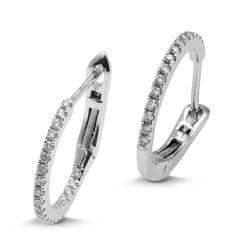 Criollas de oro blanco 18Kt con diamantes (PE1484314)