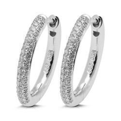 Criollas de oro blanco 18 Kt con diamantes (PE1484488)