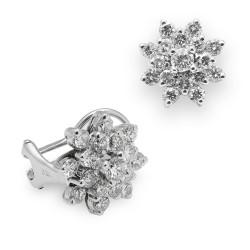 Rosetones de oro blanco 18Kt con diamantes (PE1484558)