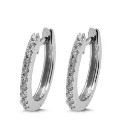 Criollas de oro blanco 18Kt con diamantes (PE1484567)