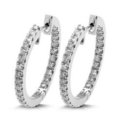 Criollas de oro blanco 18Kt con diamantes (PE1484575)