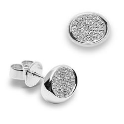 Pendientes diseño de oro blanco 18 Kt con diamantes (PE1484593)