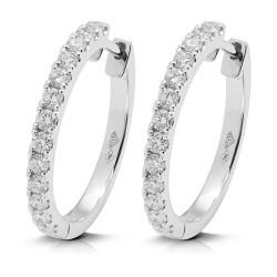 Criollas de oro blanco 18kt con diamantes (PE148604)