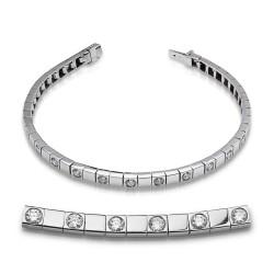 Rivier bocas de oro blanco 18Kt con diamantes (PU1100625)