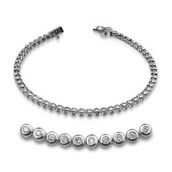 Rivier bocas de oro blanco 18Kt con diamantes (PU110581)