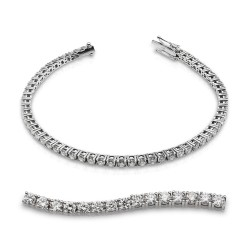 Rivier grapas de oro blanco 18 Kt con diamantes (PU110584)