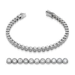 Rivier bocas de oro blanco 18Kt con diamantes (PU110585)