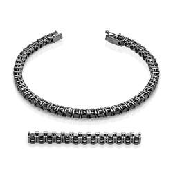Rivier bocas de oro blanco 18 Kt con diamantes negros (PU11686)