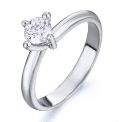 solitario de oro blanco 18Kt con diamante (AN126209)