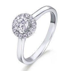 Rosetón de oro blanco 18Kt con diamantes (AN1484433)